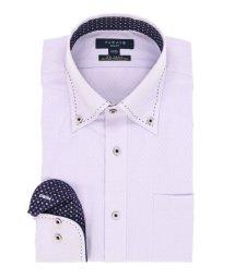 TAKA-Q/形態安定スリムフィットボタンダウンパイピングハンドステッチ長袖ビジネスドレスシャツ/501554445