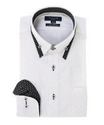 TAKA-Q/形態安定スリムフィット比翼マイタードゥエボットーニボタンダウン長袖ビジネスドレスシャツ/501554447
