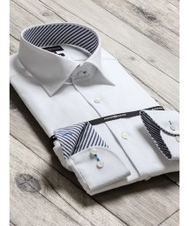 TAKA-Q/形態安定80双スリムフィットワイドカラー長袖ビジネスドレスシャツ/501554481