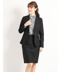 TAKA-Q/ストレッチウォッシャブル黒無地テーラージャケット+スカート+パンツ/501554665