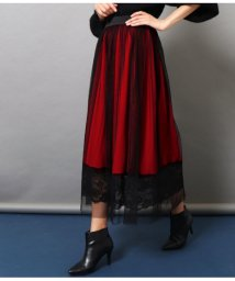 Settimissimo/チュールカバードレースヘムフレアースカート/501555515