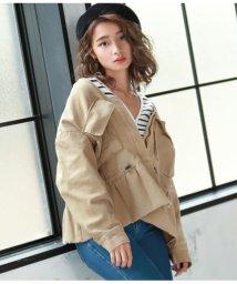 CHILLE/ペプラム2ポケットジャケット/501555525
