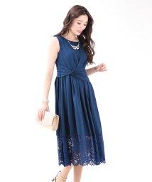 BLUEEAST/《結婚式 パーティー 二次会》ネックレス付きウエストツイスト裾レースロングドレス/501555772