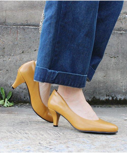 ALETTA(ALETTA)/やっと出会えた究極のプレーンパンプス【 6.5cmヒール/ラウンドトゥ】 外反母趾ぎみ甲高幅広の悩み解決 立仕事 靴 痛くないパンプス 小さい 大きいサイズ/274006531b