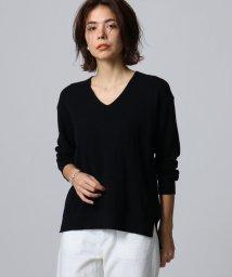 JET/【洗える】カシミヤ混コットンワッフルVニット/501557174