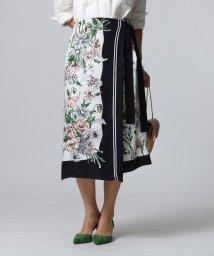 JET/ヴィンテージスカーフプリントラップスカート/501557180