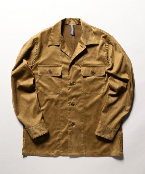 NOLLEY'S goodman(ノーリーズグッドマン)/フェイクスエードシャツ/9-0086-1-71-005