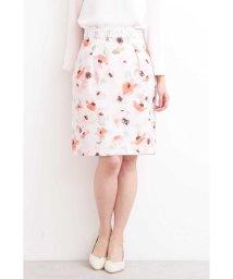 PROPORTION BODY DRESSING/ブライトトーンフラワータイトスカート/501550521