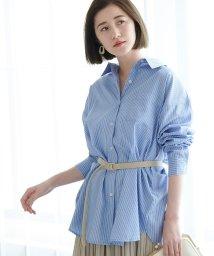 ROPE' PICNIC/【WEB限定】ストライプチュニックシャツ/501557711