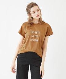 titivate/マットラバープリントロゴTシャツ/501558209