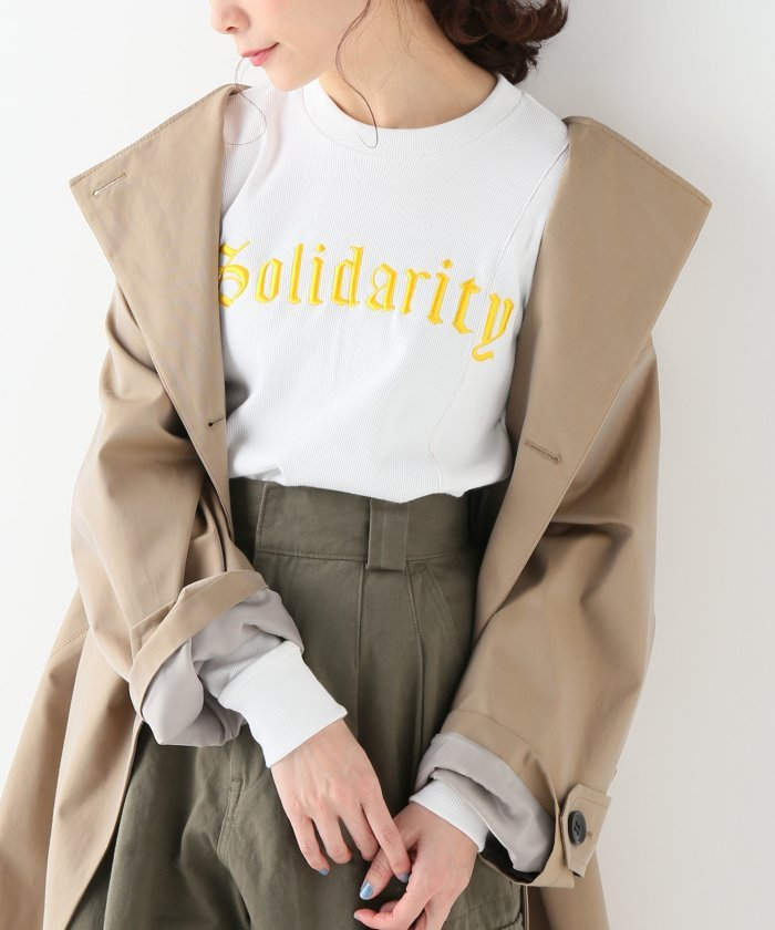 【ITCHY SCRATCHY PATCHY】ロングスリーブ刺繍トップス:ホワイト