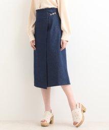 MAJESTIC LEGON/ビット付ラップIラインスカート/501469237