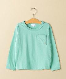 green label relaxing (Kids)/gロゴポケットロングスリーブTシャツ/501531030
