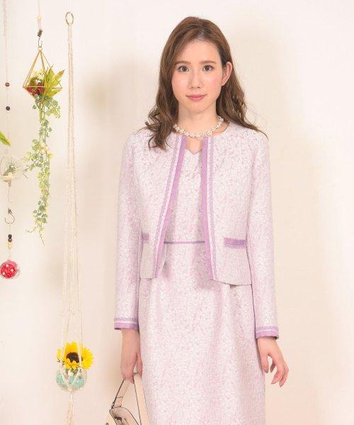 Dear Princess(ディアプリンセス)/【セットアップ対応商品】小花ジャガードジャケット/3087069
