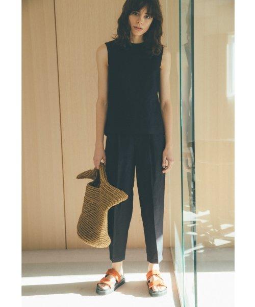 Mila Owen(ミラオーウェン)/バックデザインリネンセットアップ/09WFO191051