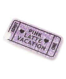 PINK-latte/iPhone8/7/6s/6 ロゴラメシリコンケース/501562281