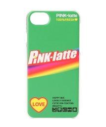 PINK-latte/iPhone8/7/6s/6 ロゴクリアスマホケース/501562283