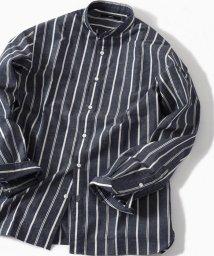 SHIPS MEN/SC: コットン/リネン イージーケア加工 バンドカラー シャツ/501562325