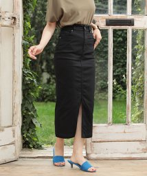 nano・universe/I-line slim fit skirt/501553804