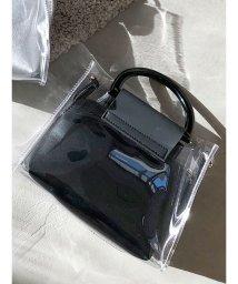 MERCURYDUO/【泉里香×MERCURYDUO】ポーチ付PVC2WAYミニバッグ/501560162