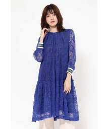 ROSE BUD/LACE STRIPE LINE DRESS/501515255