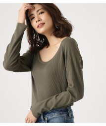 AZUL by moussy/ROUND NECK TERECO LONG SLEEVE/501563101