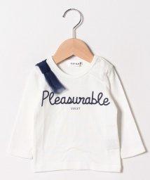 SLAP SLIP/天竺肩リボンTシャツ/501138598