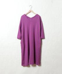 coen/Vネック裏毛ワンピース/501553243
