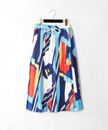 GRACE CONTINENTAL/カラーブロックプリーツスカート/501565913