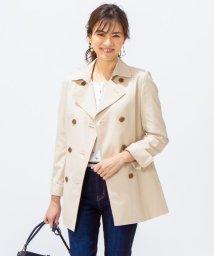 KUMIKYOKU/【撥水加工・花粉ガード】ダブルショートトレンチ コート/501565931