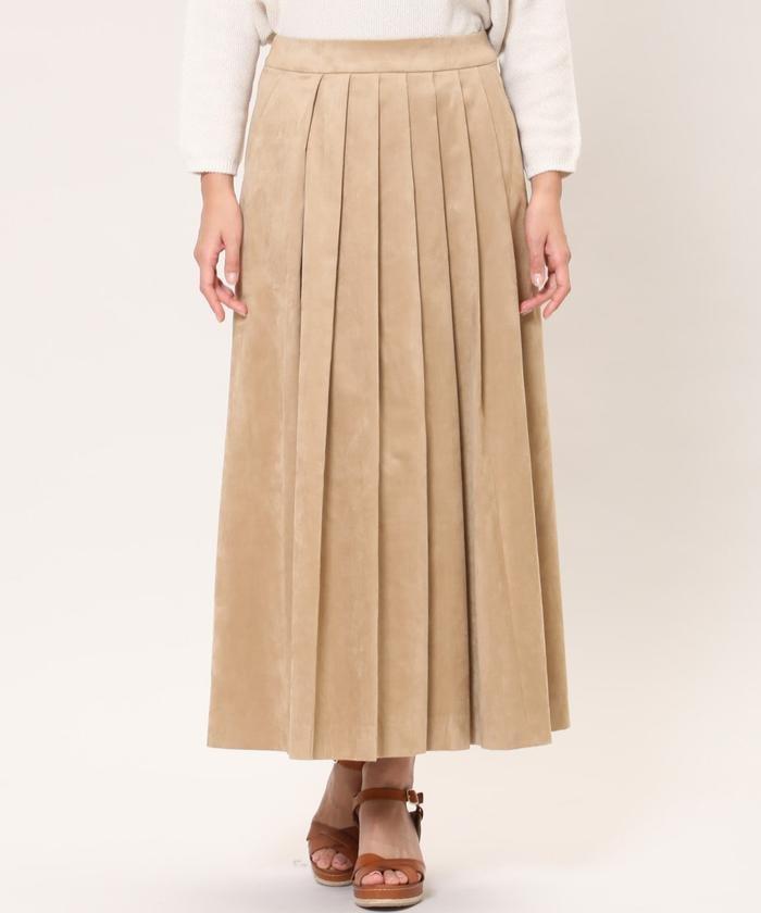 《SUPERIOR CLOSET》フロントプリーツスカート《KOMASUEDE》