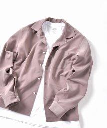 SHIPS JET BLUE/SHIPS JET BLUE: オープンカラー ソリッドシャツ/501566658