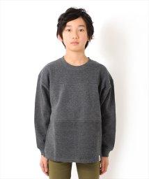 GLAZOS/ビッグシルエット切替・厚手長袖Tシャツ/501567630