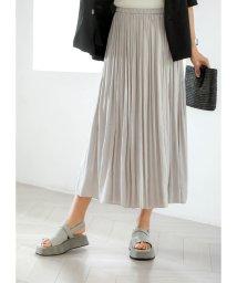 STYLE DELI/【Made in JAPAN】V.サテンギャザーロングスカートE/501559395