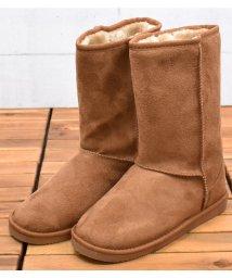 Shoes in Closet/ミドル丈インヒールムートンブーツ/501561648