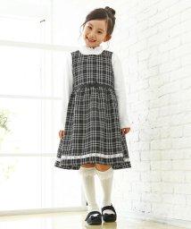 3can4on(Kids)/【100cm~140cm】チェック柄ジャンパースカート/501569771