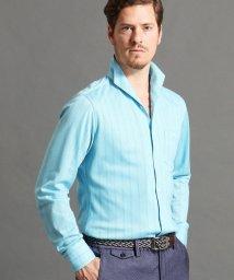 MONSIEUR NICOLE/ストライプ柄イタリアンカラーシャツ/501541211