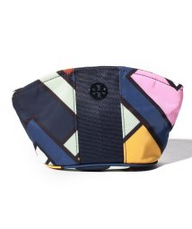 TORY BURCH/【TORY BURCH】ポーチ/SMALL DOME COSMETIC CASE【PICNIC BOX/PINK CARNATION】/501564128