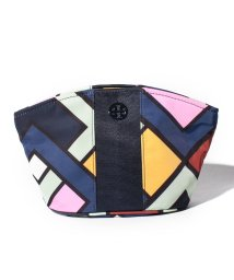 TORY BURCH/【TORY BURCH】ポーチ/LARGE DOME COSMETIC CASE【PICNIC BOX/PINK CARNATION】/501564129
