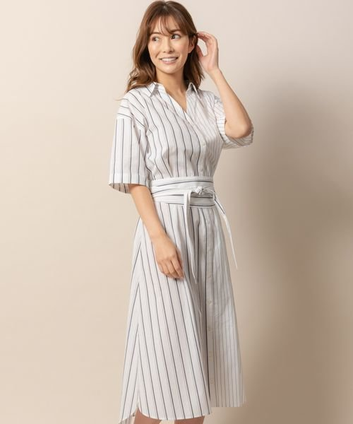 86df1747b19f0 アシメストライプシャツワンピース(501570494)|レディースファッション|阪急百貨店公式通販 HANKYU FASHION