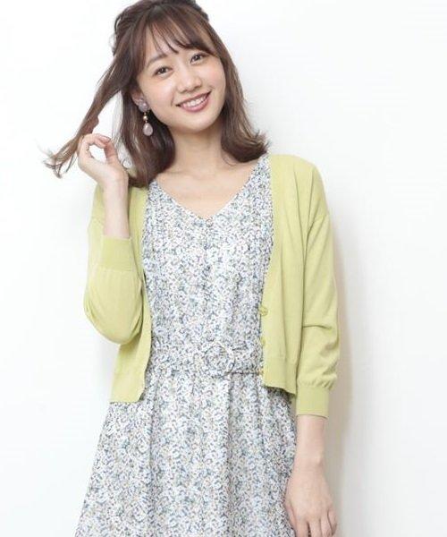 JUSGLITTY(ジャスグリッティー)/『and GIRL5月号掲載』バックリボンVカーデ/49154340