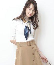 JUSGLITTY/【5分袖】スカーフ付リブニット/501571440