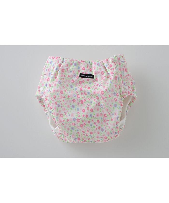 チャックルベビー ママトンネおむつカバー両開き型小花柄 キッズ ピンク 80-95cm 【chuckleBABY】