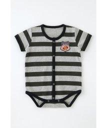 chuckleBABY/ラガーシャツ風ボーダー柄半袖前開きロンパース/501571629