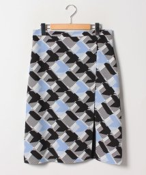 GUEST JOCONDE/【大きいサイズ】変形千鳥プリント 切替Aラインスカート/501349478