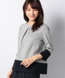 Leilian/配色切替プルオーバー/501543493