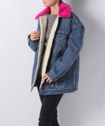 LEVI'S LADY/SHERPA W/NEON COLLAR LIGHT WASH W/ FUCSI/501556124