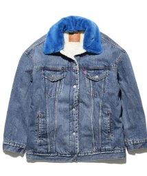 LEVI'S LADY/SHERPA W/NEON COLLAR LIGHT WASH W/BLUE C/501556125