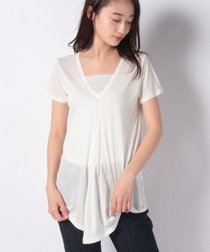 フリルVネック半袖Tシャツ・カットソー