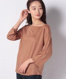 BENETTON (women)/リネンボートネックTシャツ・カットソー/501560399